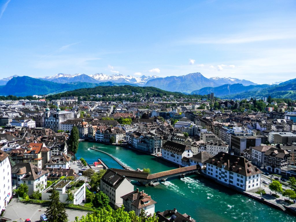 View from Männliturm - Lucerne Switzerland