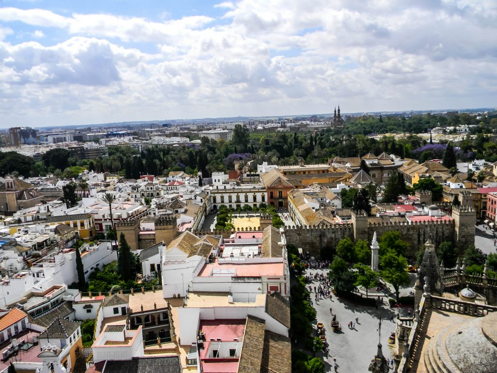 Sevilla, Spain - Catedral de Sevilla- View from Giralda Tower