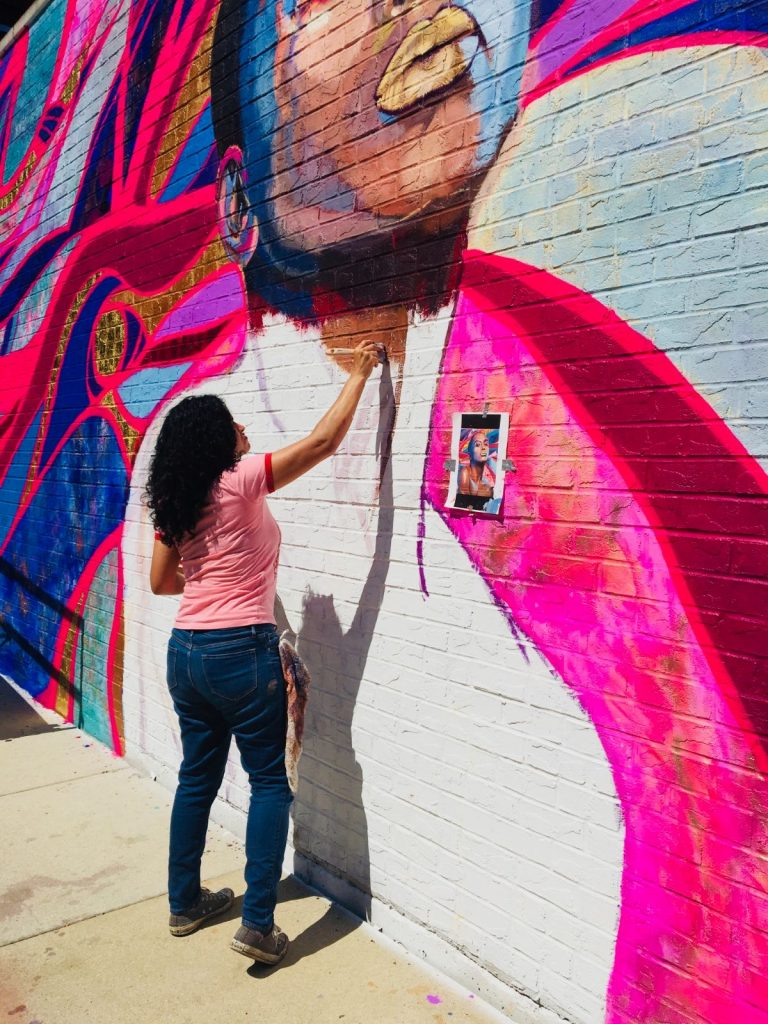 Painting Mural - The Process - The Love I Vibrate