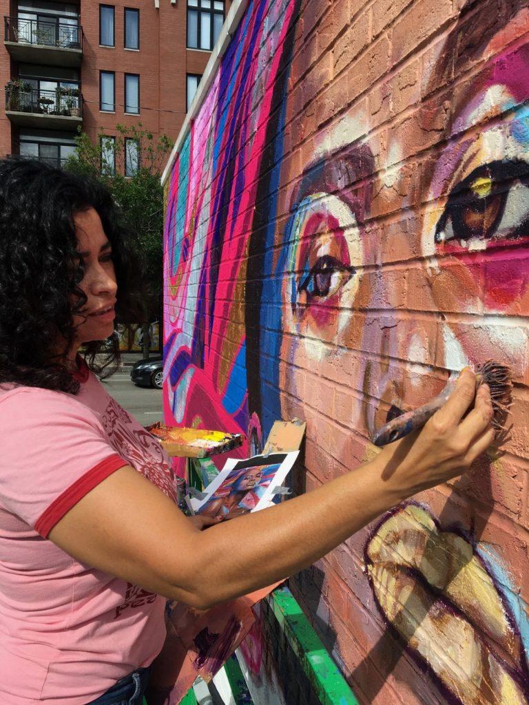 Mural The Love I Vibrate - Process Photo