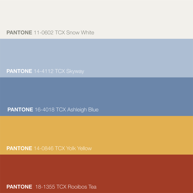 Pena Palace Color Inspiration - Primary Color Palette Pantone