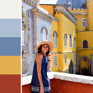 Pena Palace Inspired Color Palette