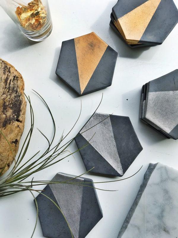 MadebyRheal - Charcoal Concrete Coasters
