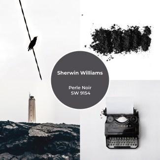 Sherwin Williams - Perle Noir SW 9154 - Charcoal Black Inspiration