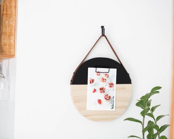 The Heart Department Co - Small Memo Board - Black and Wood