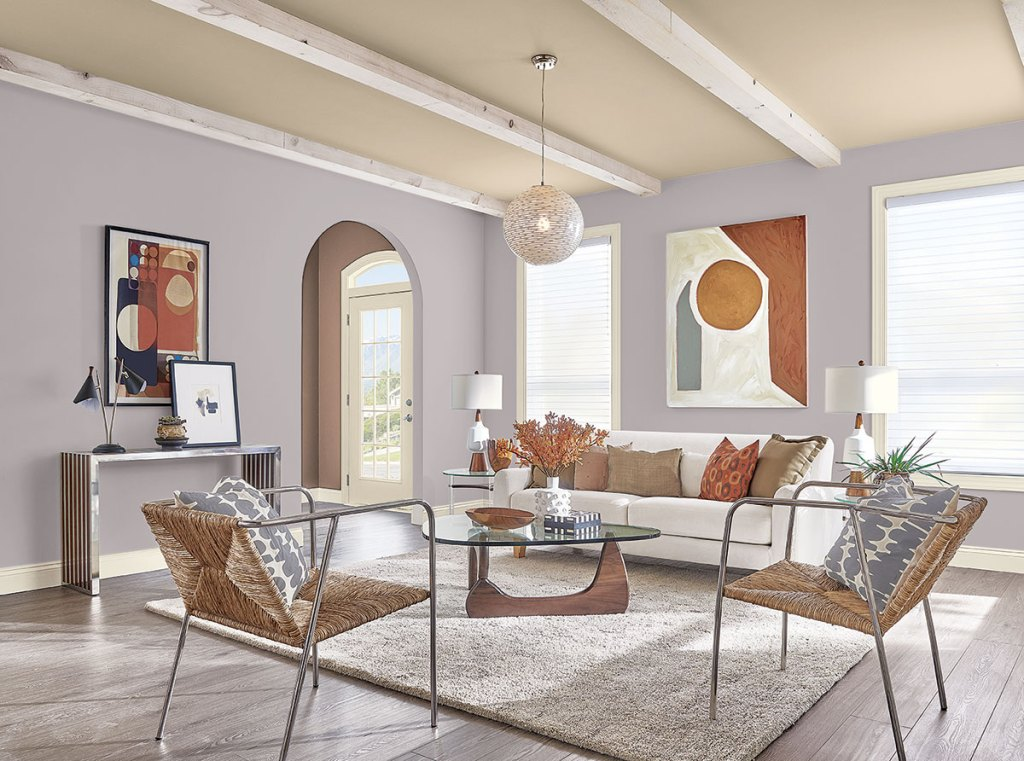 Modern Living Room - Paint Mystical Shade