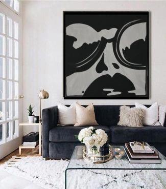 Art by Dina D - Portrait - Women in Sunglasses - Acrylic Painting - ArtbyDinaD