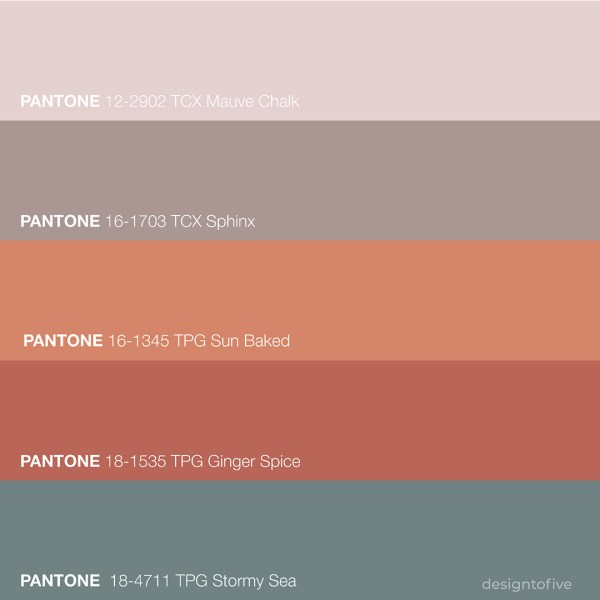 Design to Five - Spain Inspired Color Palette - Pantone Colors