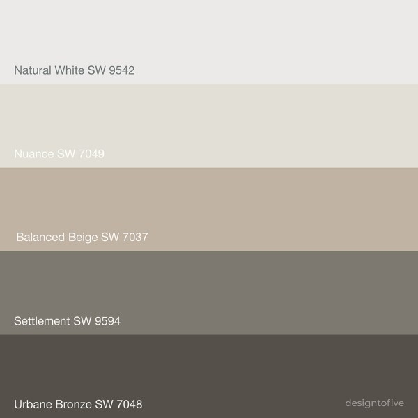Urbane Bronze Color Palette - SW 7048