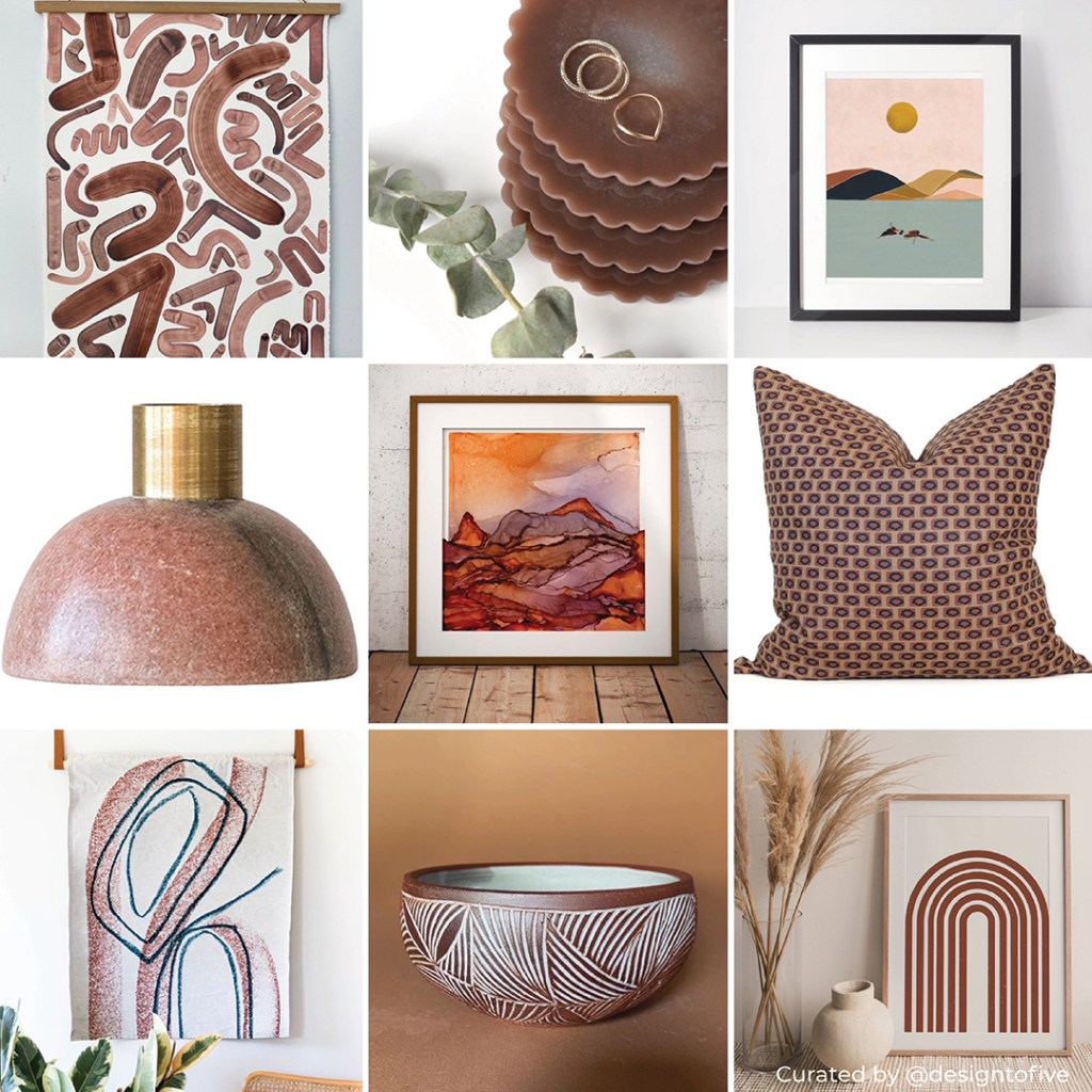 Clay & Terracotta Home Decor - Canyon Clay SW 6054 - Curated Collection.