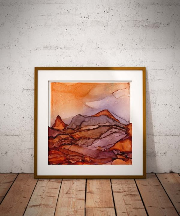 Print - Abstract Water Color - Terracotta - Wyld Fronteir