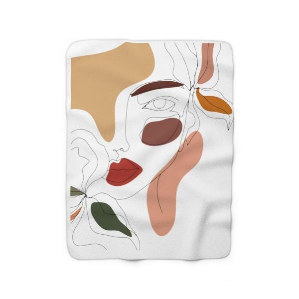 Tired Tuesday - Sweet Soul Sherpa Fleece Blanket - Modern Abstract print