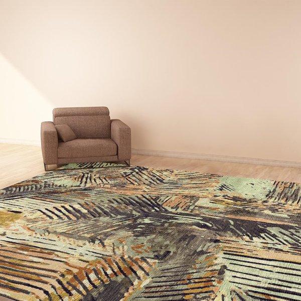 Scrafitto Gold Carpet - 54 Kibo -African Design Rug/ Carpet
