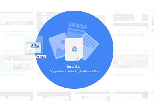 Drag-and-drop 在 Google Drive 中非常好用