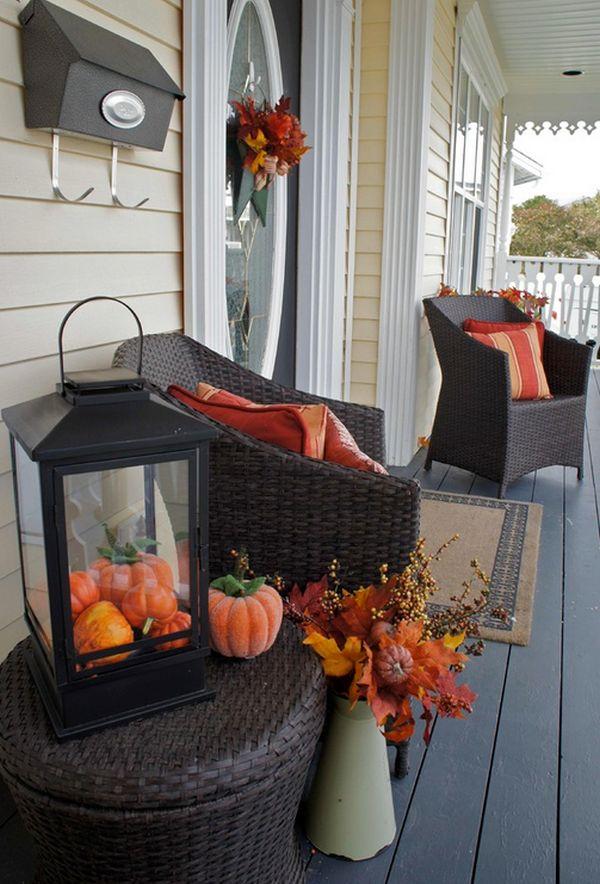 Vivere il terrazzo in autunno