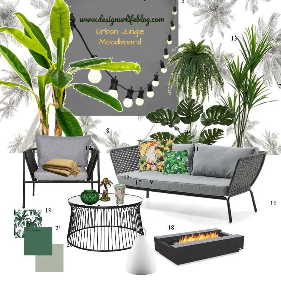 Urban Jungle Moodboard