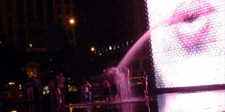 led water chicago millennium park