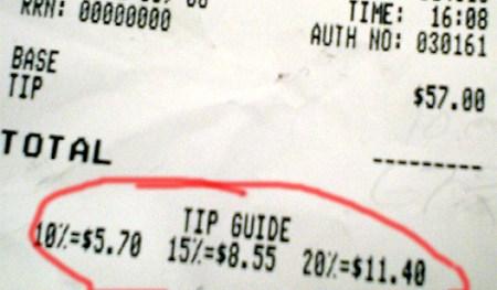 tip guide receipt