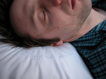 pillow case text