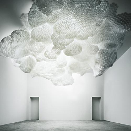 tara donavan cups ceiling