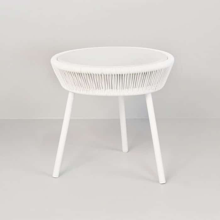 luxe outdoor accent table white design warehouse nz