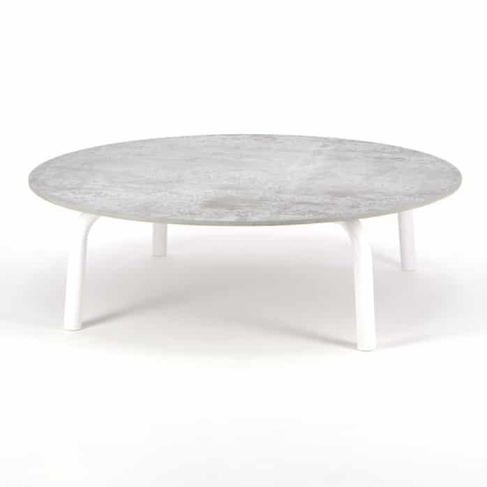 kobii outdoor white aluminium round coffee table design warehouse nz