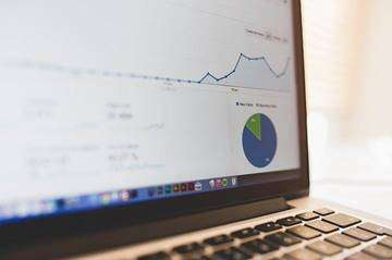 An Analytics page showing growth