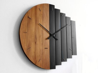 Oversized Industrial Style Big Round Wall Clock for Office, Restaurant, Hotel