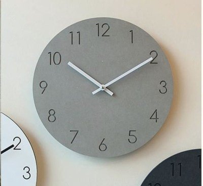 Scandinavian Minimal Designed Wall clock with concrete look
