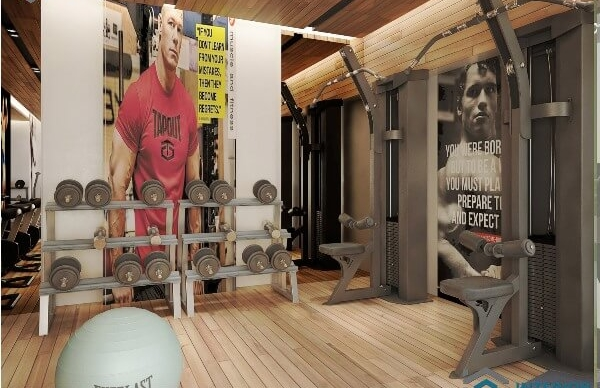Gymnasium fitness centre interior