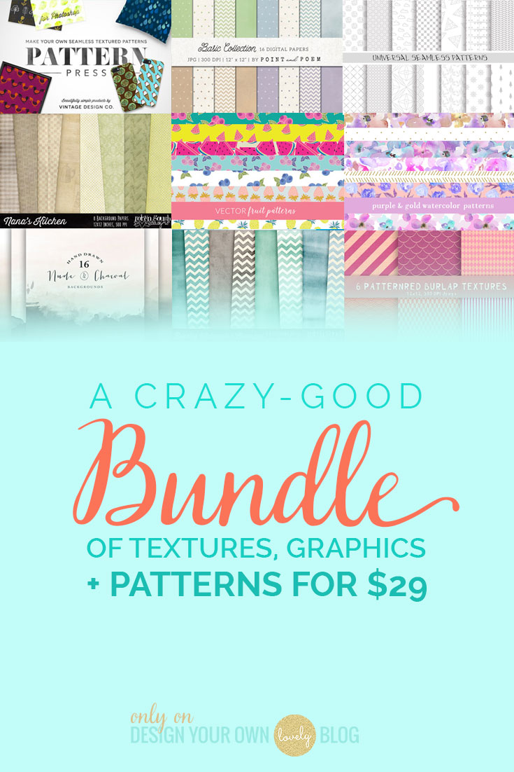 A Crazy-Good Deal! Loads of Feminine Patterns, Textures & Backgrounds for 95% Off!