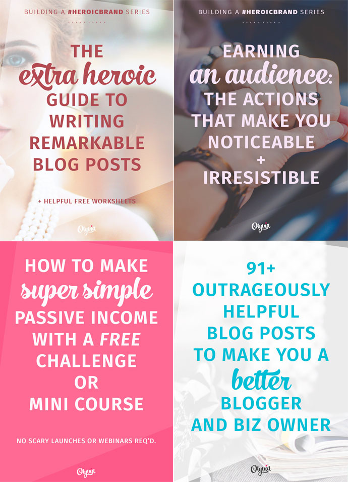 Pinnable blog post title images from Olyvia.co. From How to Create Stunning Blog Post Title Images on DesignYourOwnBlog.com