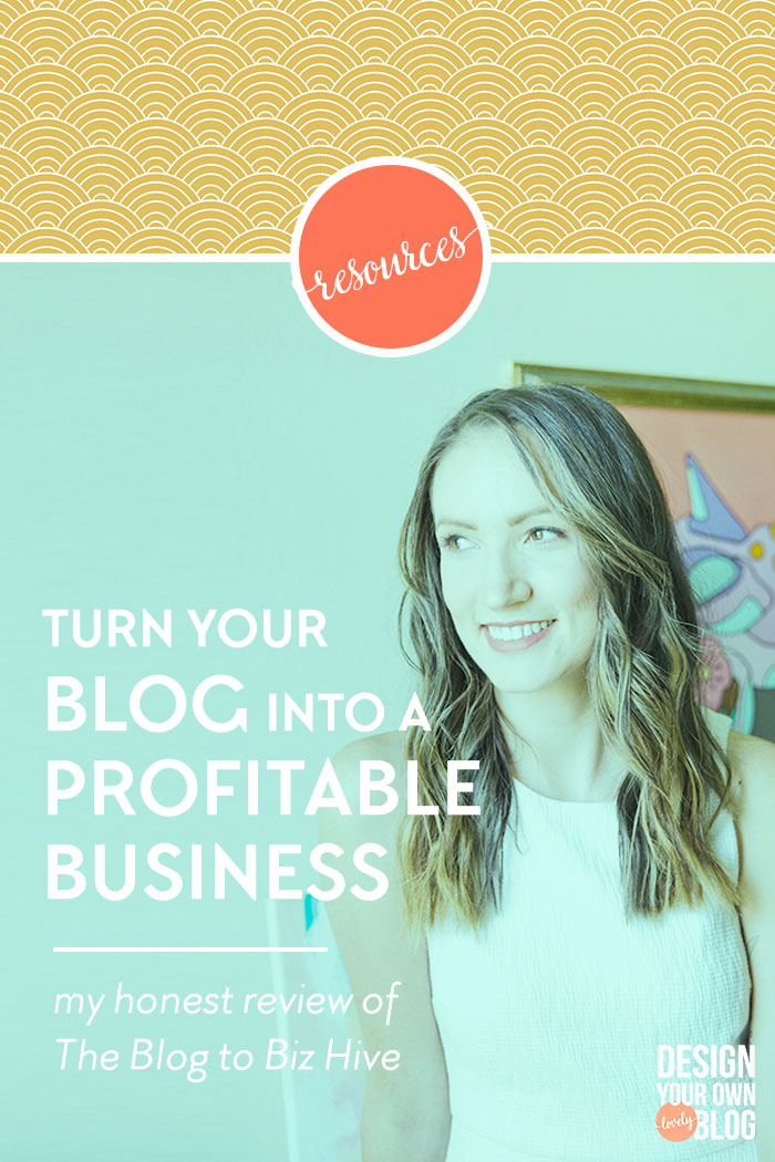 Turn your blog into a buzzing, profitable business. My honest review of my experience in The Blog to Biz Hive course with Melyssa Griffin.