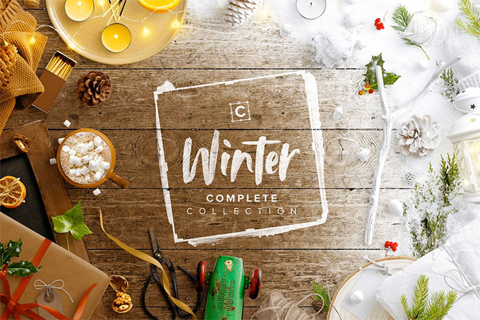 Winter Complete Collection Scene Creator - create a completely custom styled scene for your winter holiday graphics. A roundup of Christmas and holiday graphics for your holiday blog posts and social media posts!