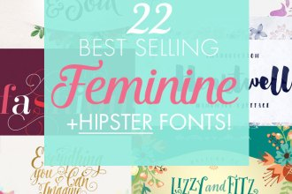 22 Best Selling Gorgeous Fonts (With Web Fonts and Extended Licensing) Just $29 - script, hand-written and hipster fonts