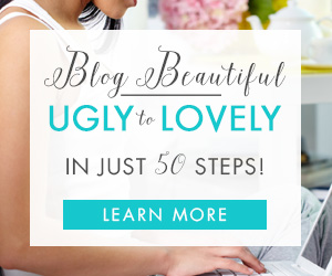 Turn your blog from ugly to lovely with this fabulous self-paced course in an eBook. Get Blog Beautiful: 50 Tips + Fixes to Make Your Blog Glow now!