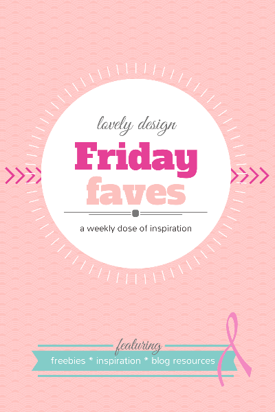 Friday Faves #9: lovely design inspiration – Think Pink! www.DesignYourOwnBlog.com