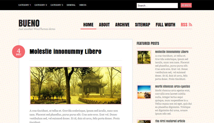 Bueno WordPress theme is a great choice for a lovely blog!