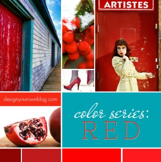DesignYourOwnBlog.com Color Series - How Red Makes you Feel Excited, Angry and Passionate