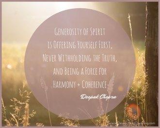 Generosity of Spirit, Deepak Chopra quote