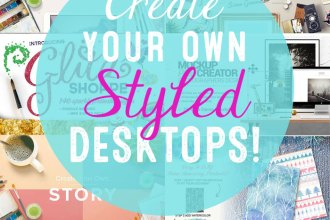 Create Your Own Styled Desktop Photos with the Latest Gorgeous Artistic Design Bundle from Design Cuts!