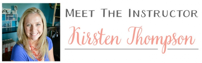 Kirsten Thompson, the instructor for An Inbox of Opportunity, an awesome ecourse and ebook about creating awesome newsletters for your blog!