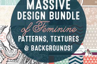 Massive Design Bundle of Feminine Patterns, Textures + Backgrounds! Just $25! http://bit.ly/design-cuts-patterns