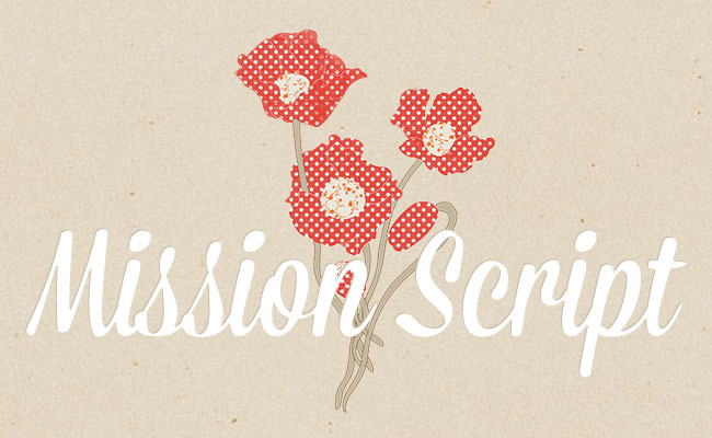 Mission Script, a free font is one of 20 beautiful fat brush scripts at DesignYourOwnBlog.com