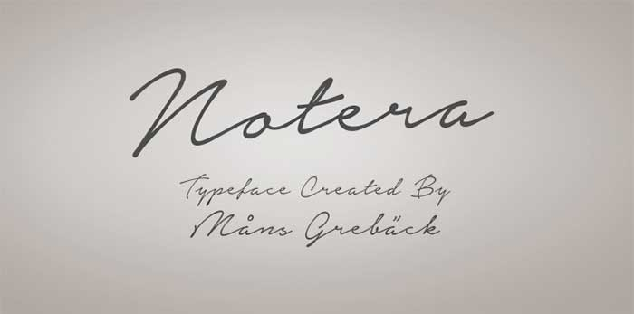 Notera is one of 20 Beautiful Handwritten Script Fonts on www.DesignYourOwnBlog.com
