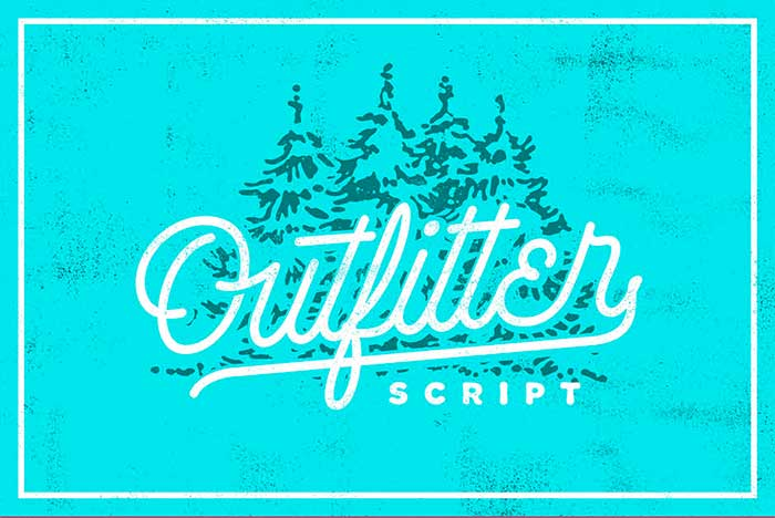 Outfitter Script is part of the 15 font families for $15 bundle!