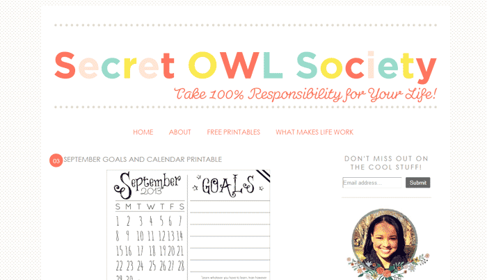 The Secret O.W.L Society is a lovely website design!
