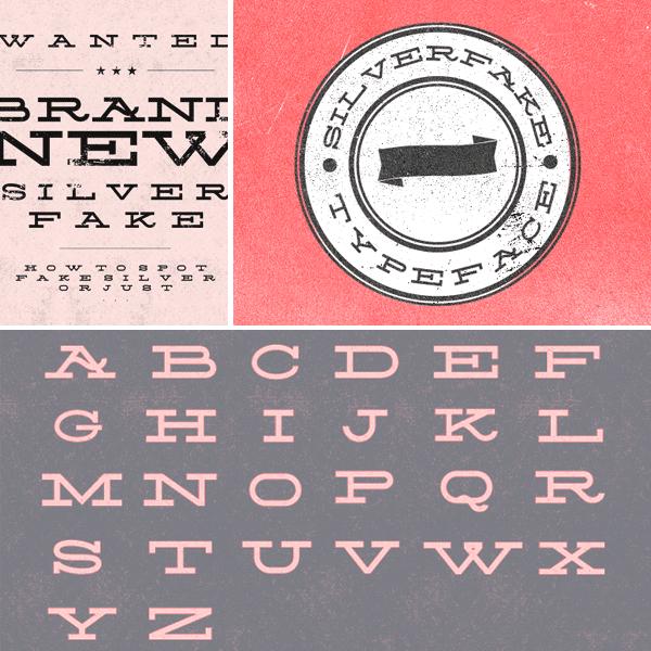 Download Silverfake free from FontFabric