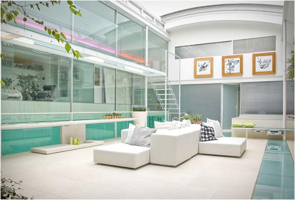 Custom Pool 2 Indoor Glass Swimming Pool in London, UK