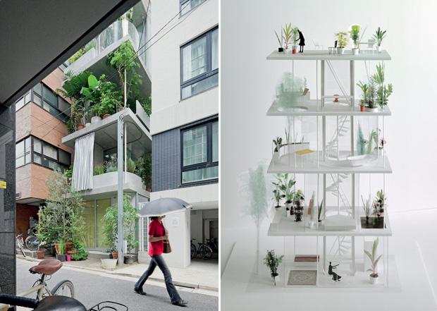 Vertical Garden Home 2 Vertical Garden House by Ryue Nishizawa
